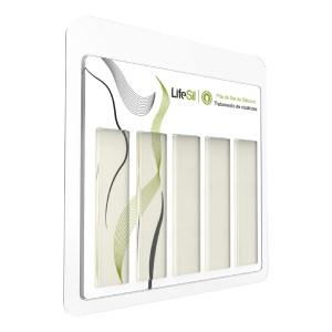 Fita de Gel de Silicone p/ Tratamento de Cicatrizes e Queloides - Modelo Formato Tira 10x2cm 3000A - Lifesil