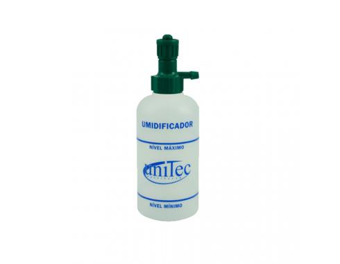 Umidificador c/ Frasco de PVC 250 ml c/ Porca Injetada p/ Rede de Oxigênio UF110