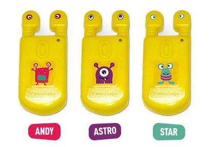 Venoscópio Venosbaby - Andy, Astro e Star - Para crianças de 0 a 7 anos