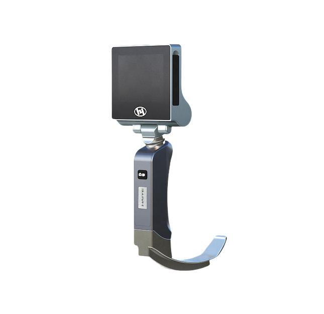 Videolaringoscopio Portátil com 5 Lâminas Reutilizáveis e Tela de 3,5