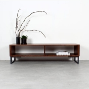Rack  madeira pinus e metalon 150x40x55
