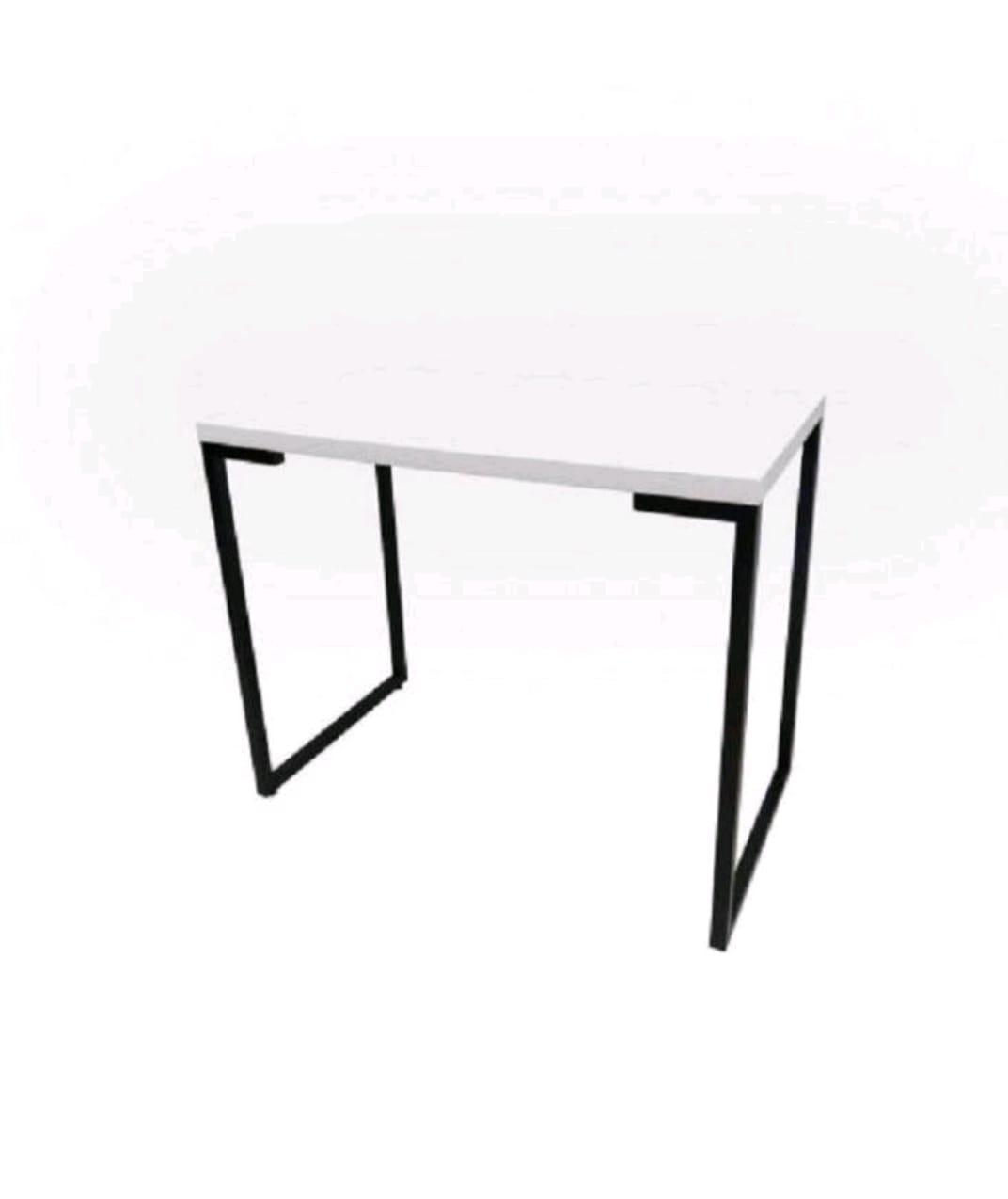 Escrivaninha 90cm Monoversátil Móveis Branco/Preto