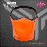 Mascara Esportiva Laranja Neon Safe Sport
