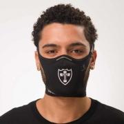 Máscara Safe Sport da Lusa Preta com Escudo Branco