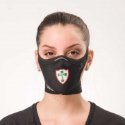 Máscara Safe Sport da Lusa Preta com Escudo Color