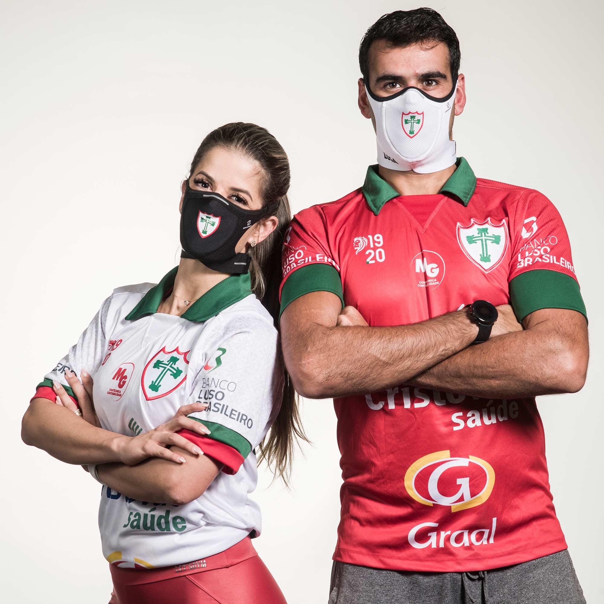Mascara Safe Sport da Lusa Preta com Escudo Branco