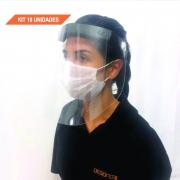 Kit 10 Unidades - Protetor Facial Total Face Shield