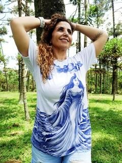 Camiseta Orixas Yemanjá Azul