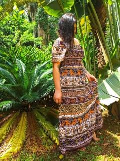 Vestido Indiano Longo Maia Laranja
