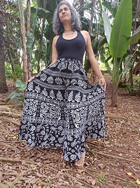 Calça Indiana Pantalona Mandala Elefante Exclusiva
