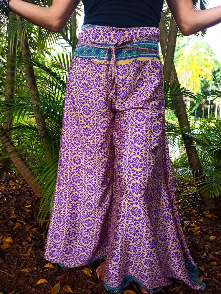 Calça Indiana Pantalona Ocre Exclusiva