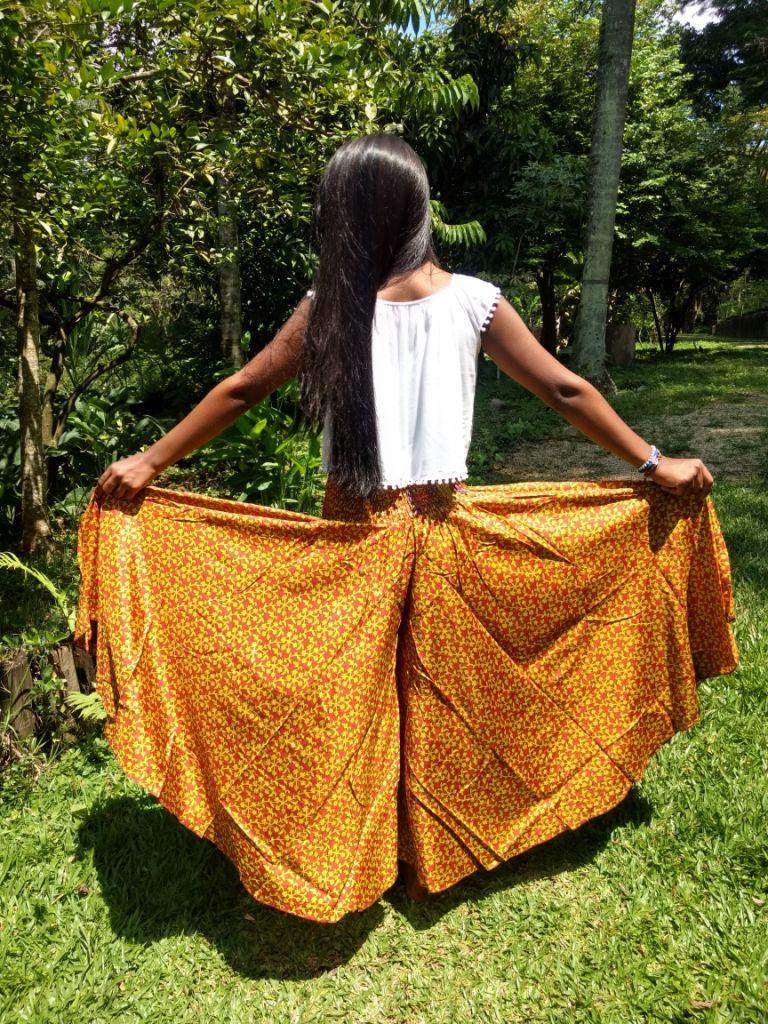 Calça Indiana Pantalona Toque De Seda Exclusivo