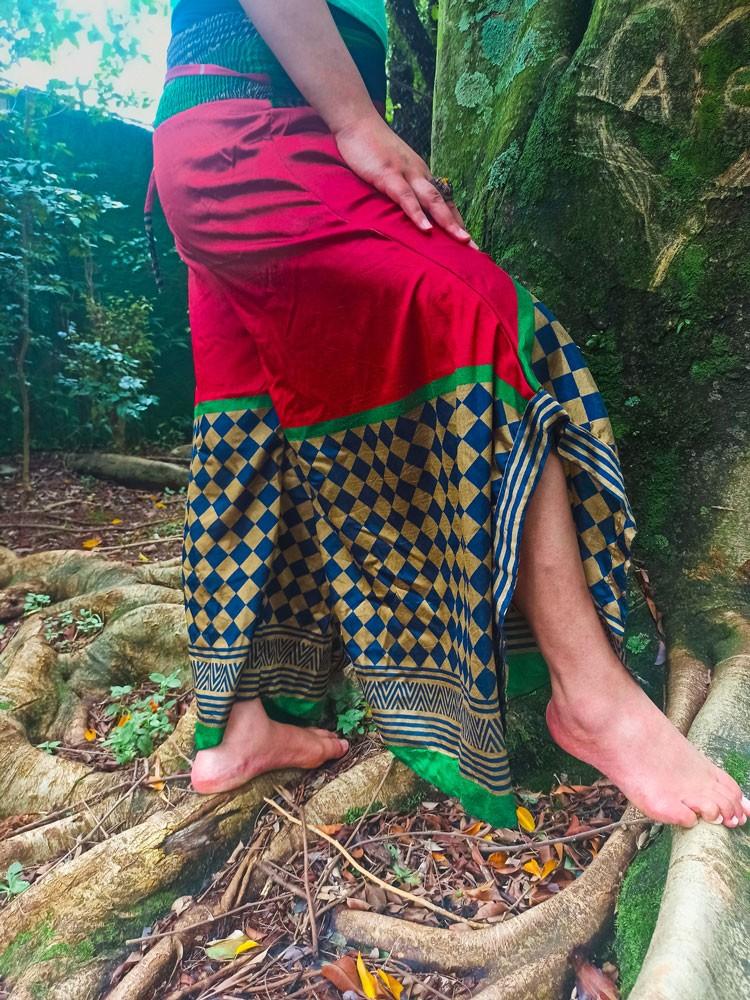 Calça Indiana Pantalona Vermelha Exclusiva