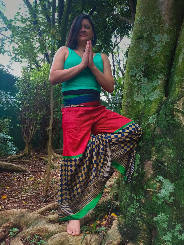 Calça Indiana Thai Aladim Saruel Vermelha