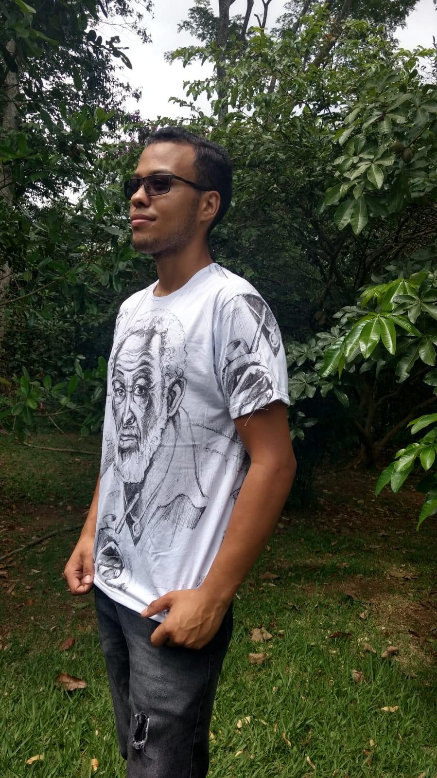 Camiseta Orixas Preto Veio & São Jorge M
