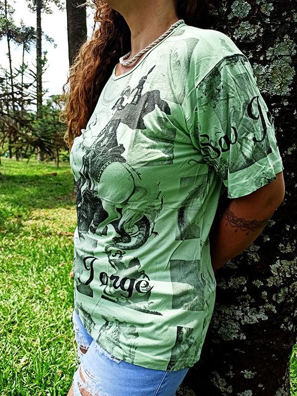 Camiseta Orixas Sao Jorge Verde