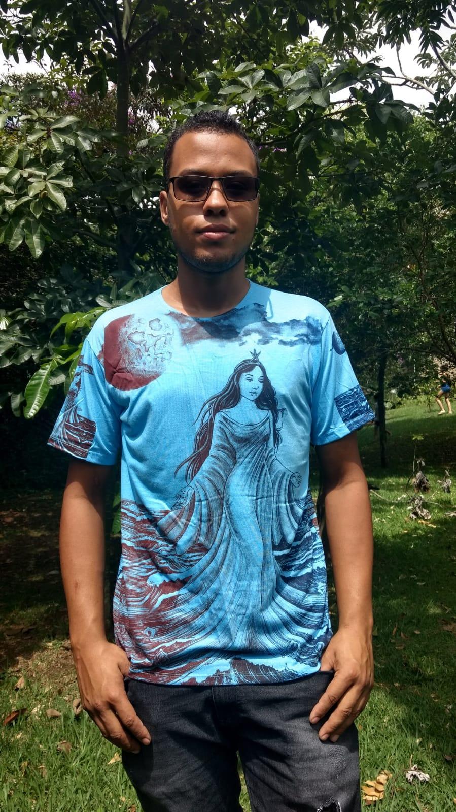 Camiseta Orixas Yemanjá Azul G