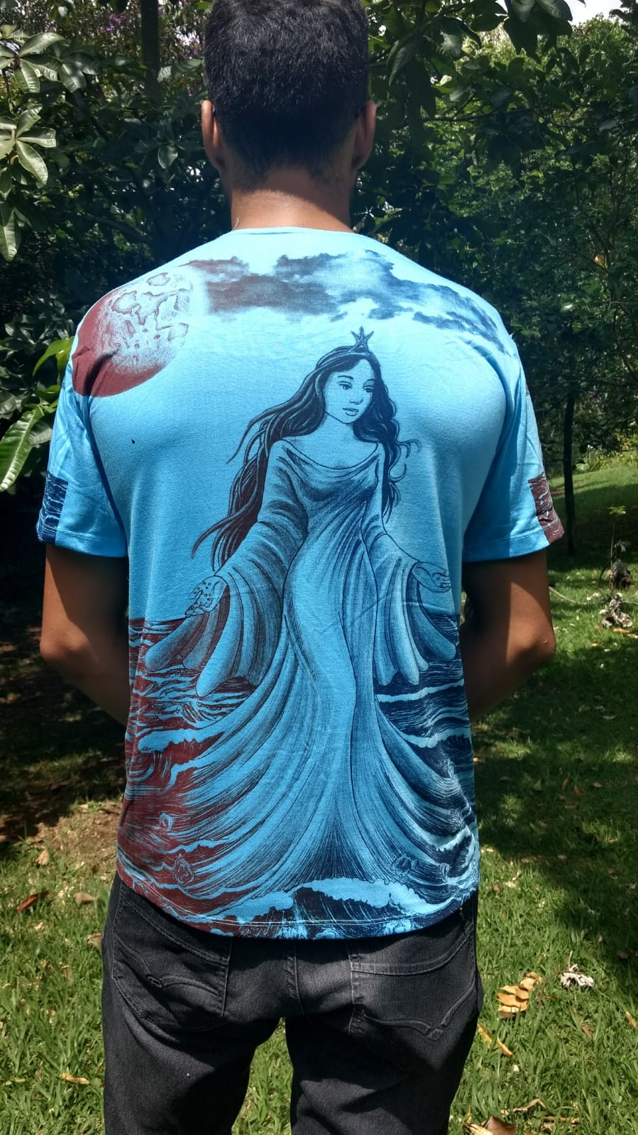 Camiseta Orixas Yemanjá Azul M