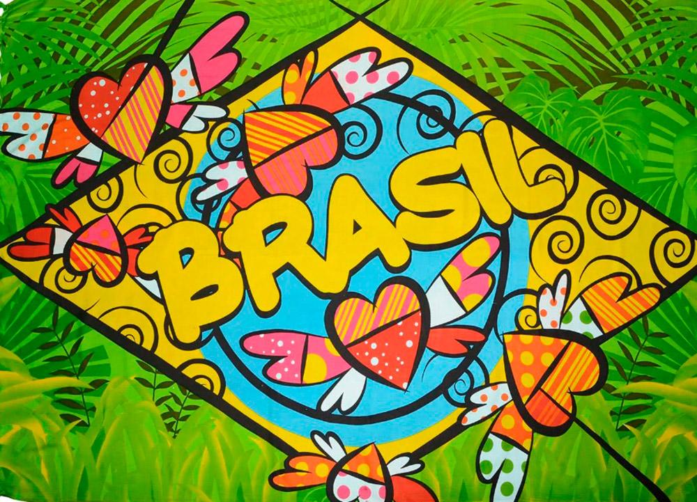 Canga De Praia Brasil Painel