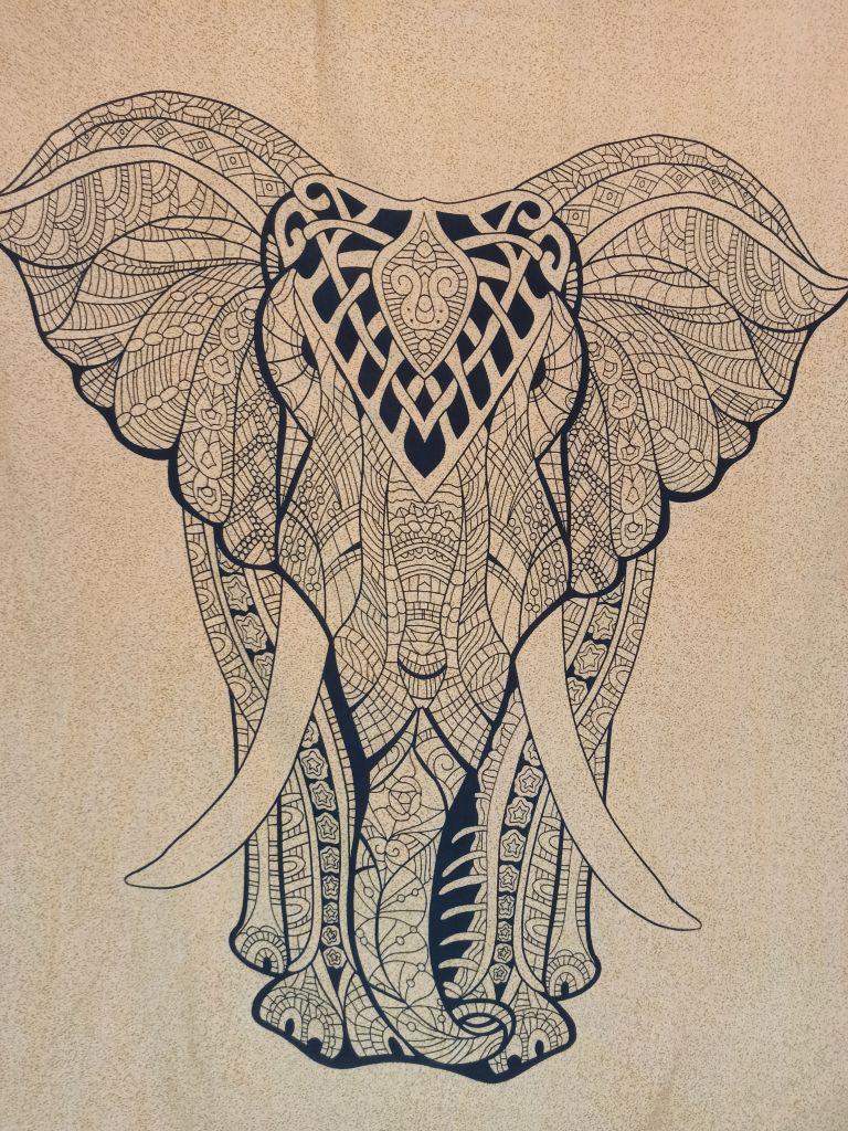 Canga De Praia Painel Elefante