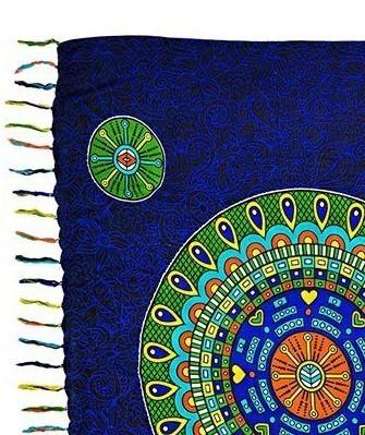 Canga Mandala Rainbow Painel
