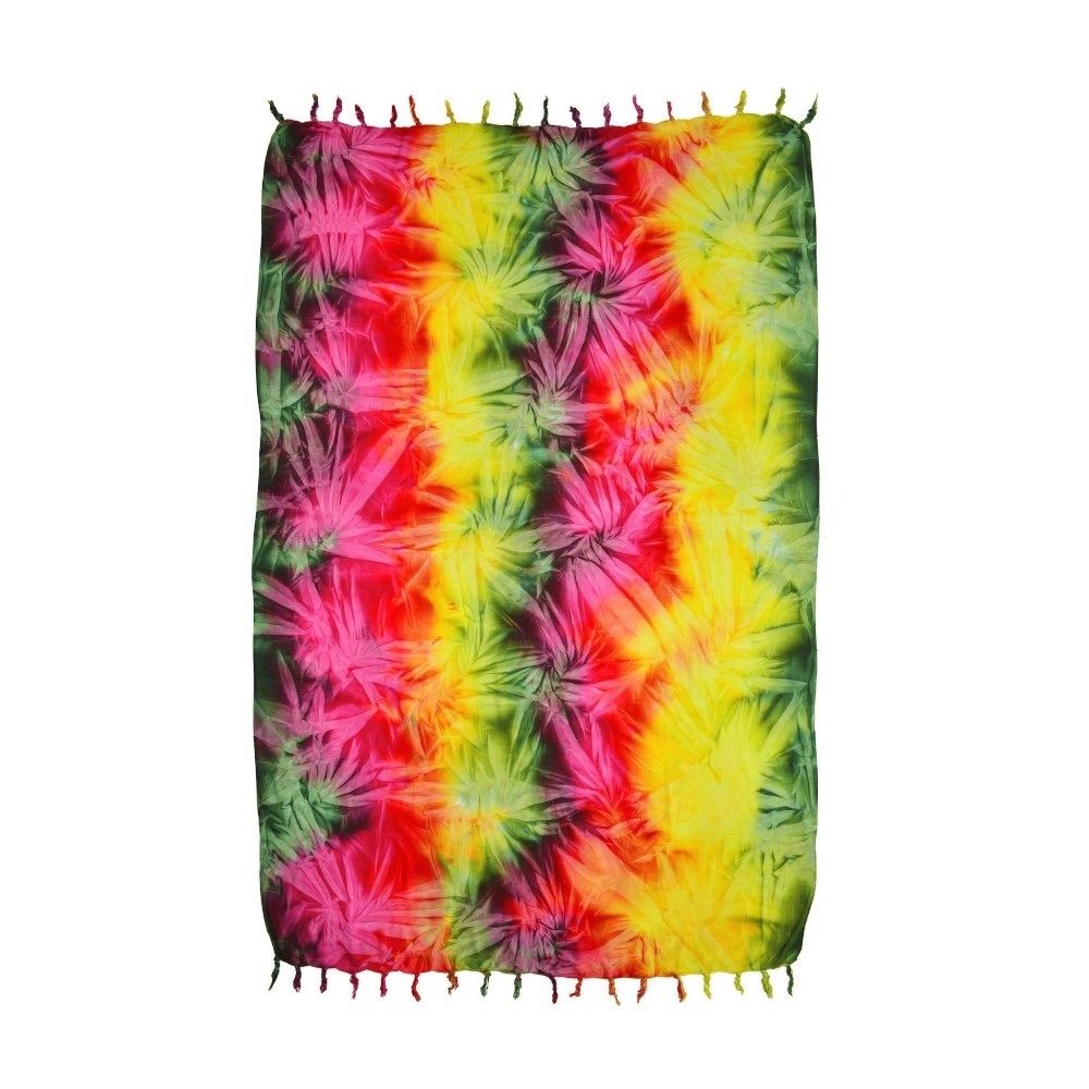 Canga Tie Dye Rainbow Painel