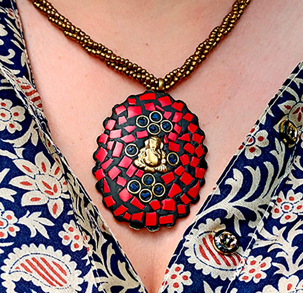 Colar Medalhão Ganesha