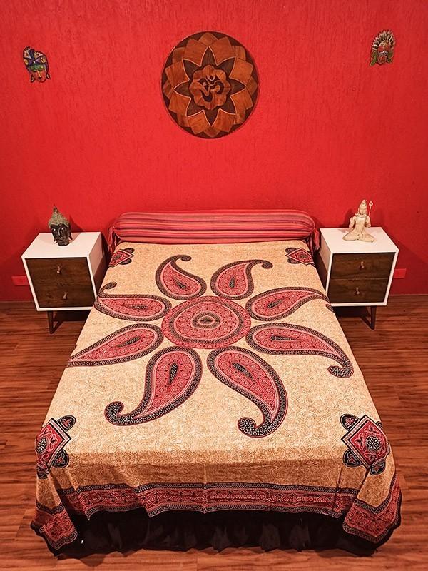 Colcha Indiana Casal Mandala Circular Yang Manta Cobre Leito Painel