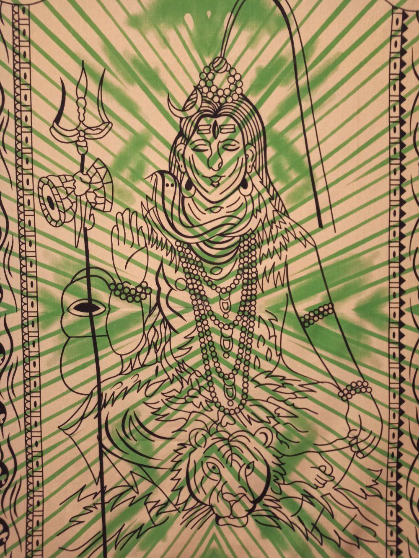 Colcha Solteiro Deus Shiva Painel Parede