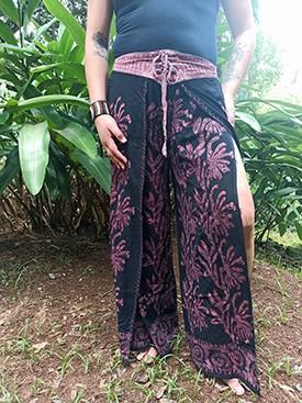 Calça Indiana Pantalona Stone Fenda Premium Goiaba