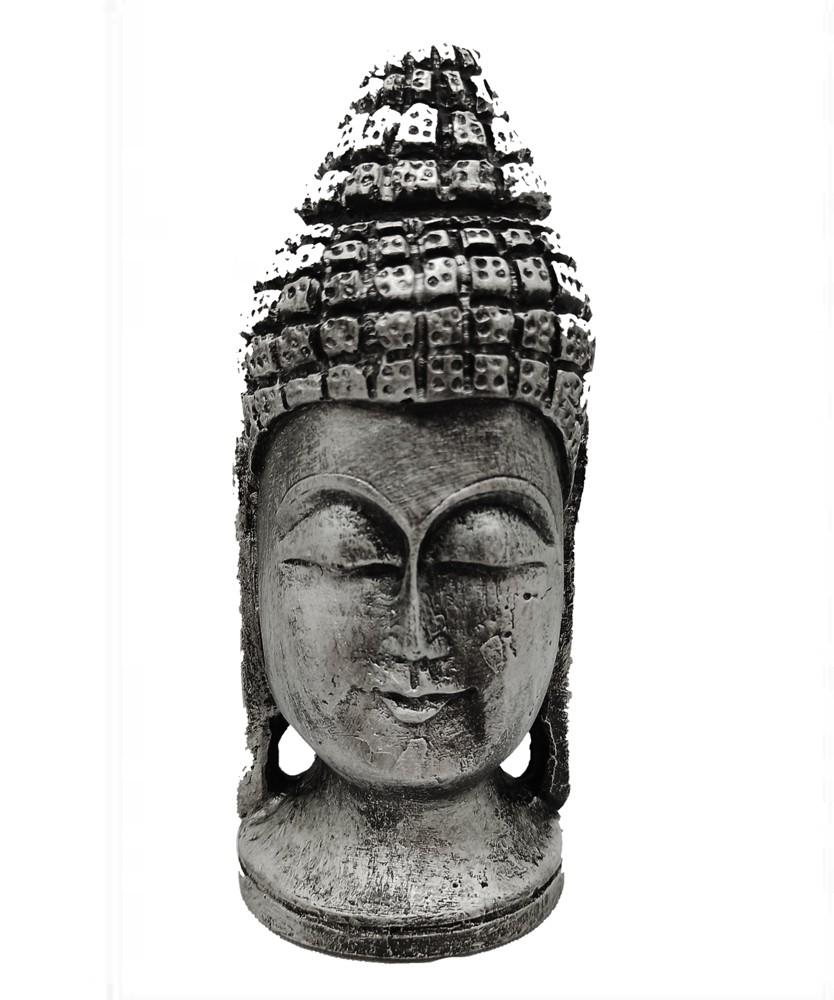 Cabeça Buda Prata