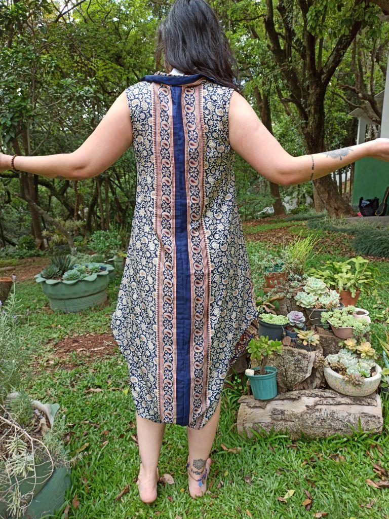 Macacão Indiano Saruel Thai Aladdin  Azul