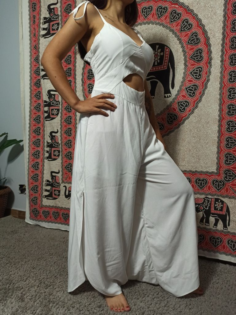 Macacão Indiano Pantalona Branco