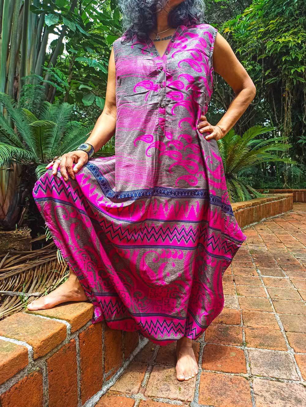 Macacão Indiano Saruel Thai Aladdin Rosa