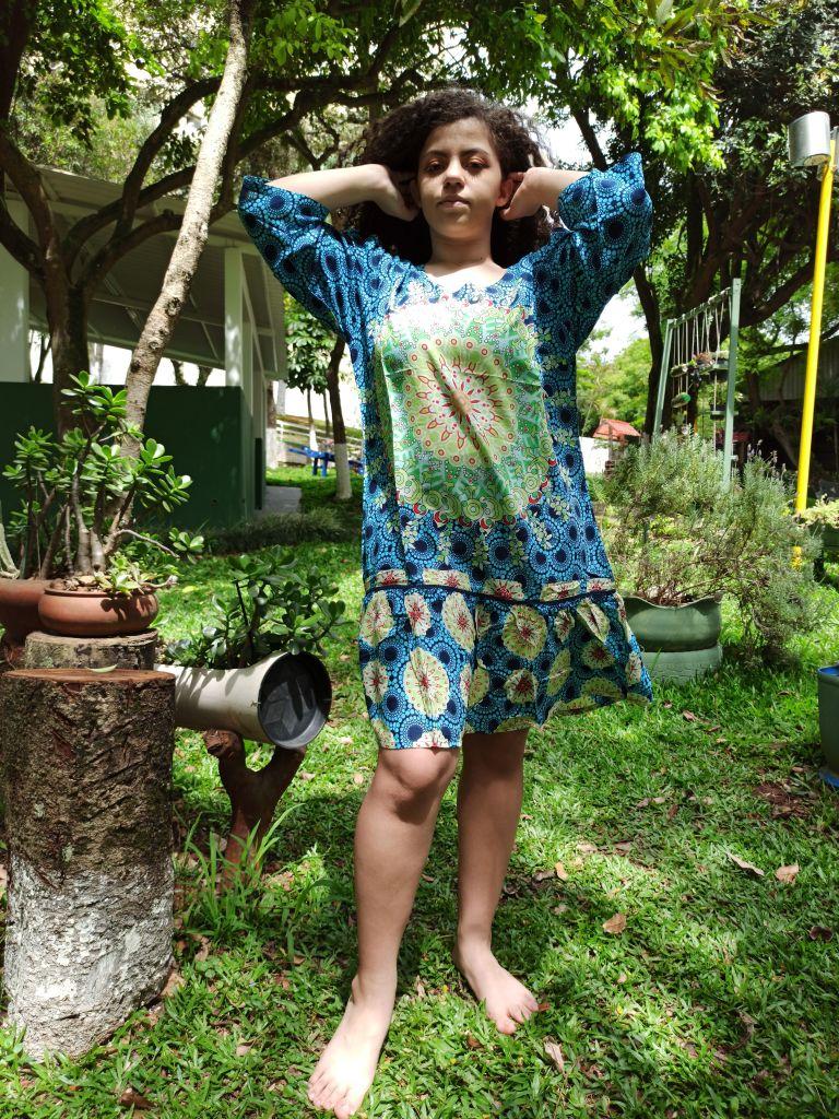 Vestido Indiano Curto Stone Estampado Premium Exclusivo
