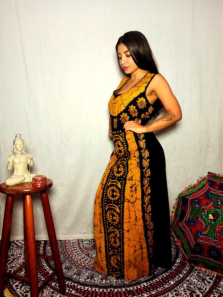 Vestido Indiano Longo Sol E Lua