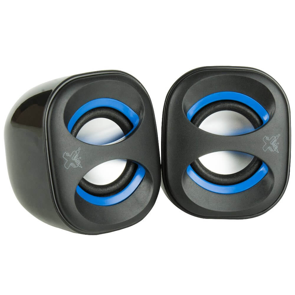 Caixa de Som Maxprint Sound Mix, USB, 3w, Preto e Azul - 6013303