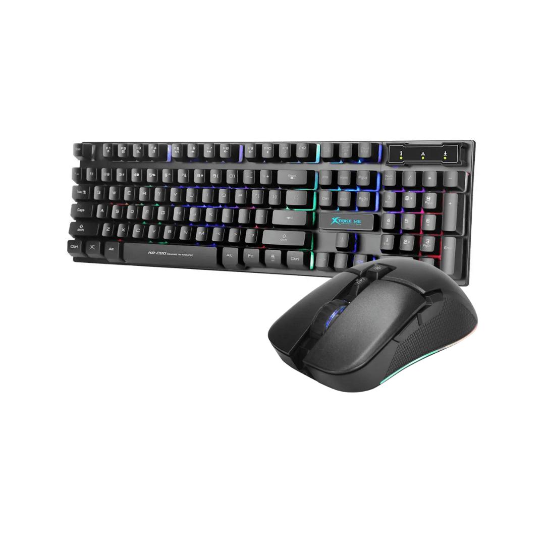 Combo Teclado e Mouse Gamer RGB Xtrike-Me USB 6400DPI - KB-280 GM-310