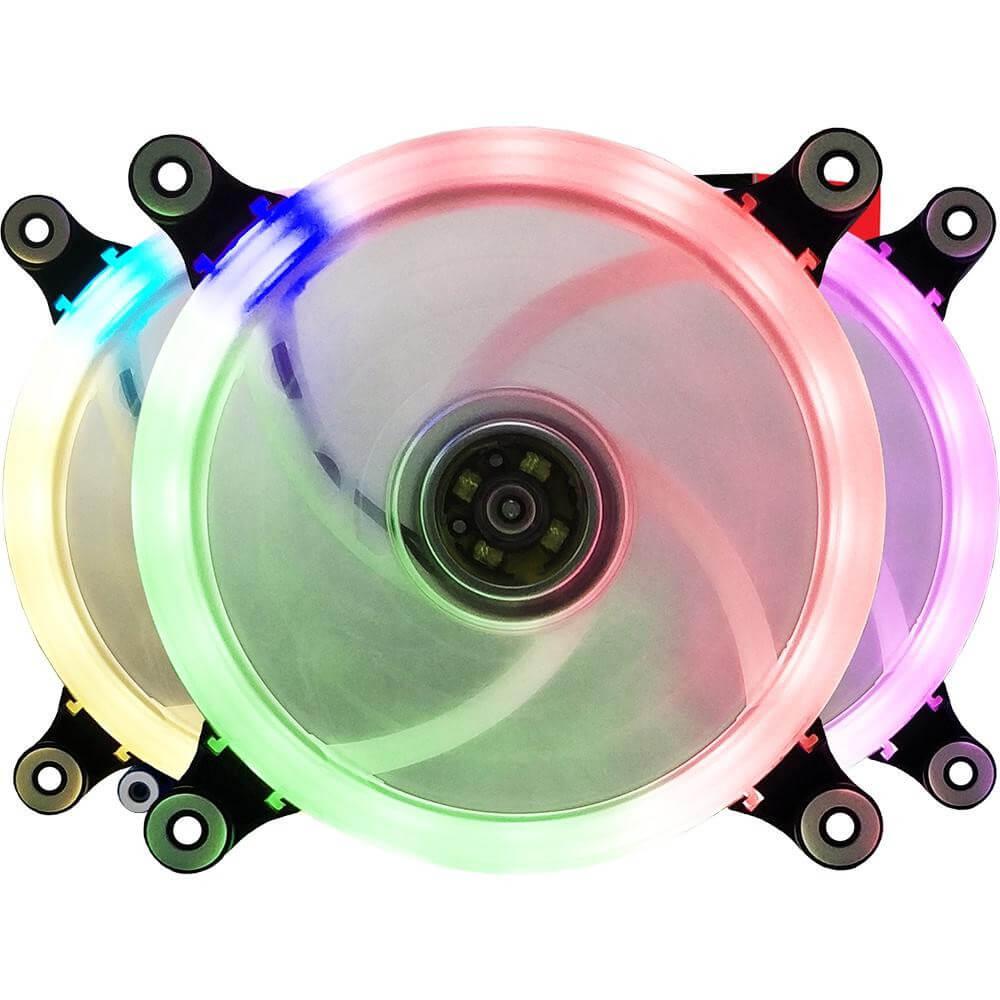 Cooler Fan Bluecase Ring BFR-09RGB, RGB por Controlador, 12cm - BFR09RGBCASE