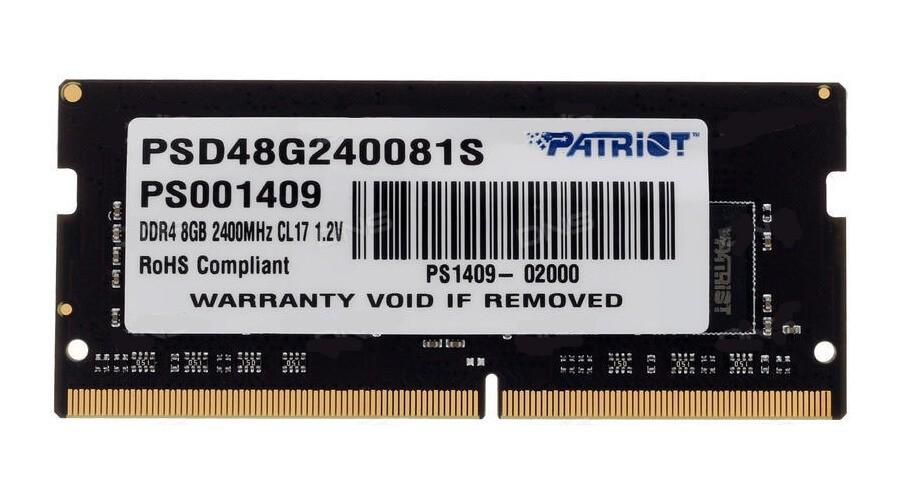 Memoria Patriot Notebook 8GB DDR4 2400MHz CL17 SODIMM
