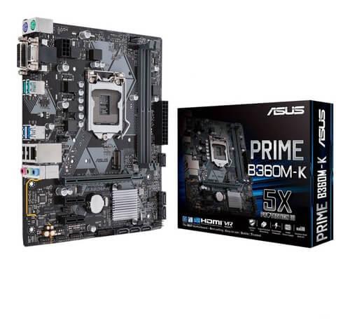 PLACA MAE ASUS PRIME B360M-K DDR4 SOCKET LGA1151 CHIPSET INTEL B360