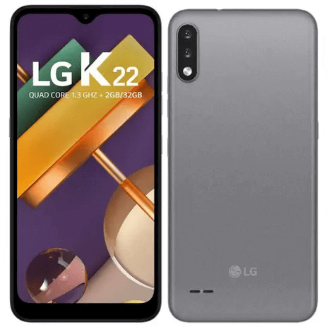 Smartphone LG K22 Titanio LMK200BMW Tela de 6,2 32GB 13MP+2MP