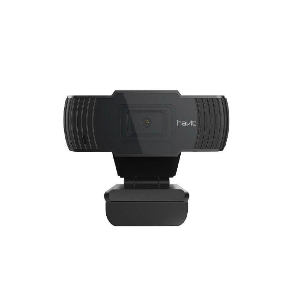 Webcam Havit HD PRO 1080p Full HD, 30FPS, com Microfone, USB 2.0, Preto - HV-HN12G