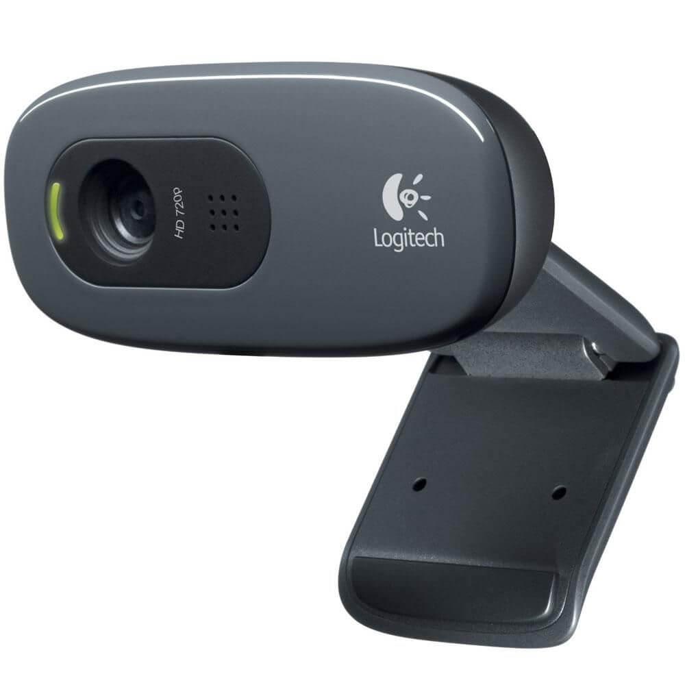 WebCam Logitech C270 HD com 3 MP para Chamadas e Gravações em Vídeo Widescreen 720p - 960-000694