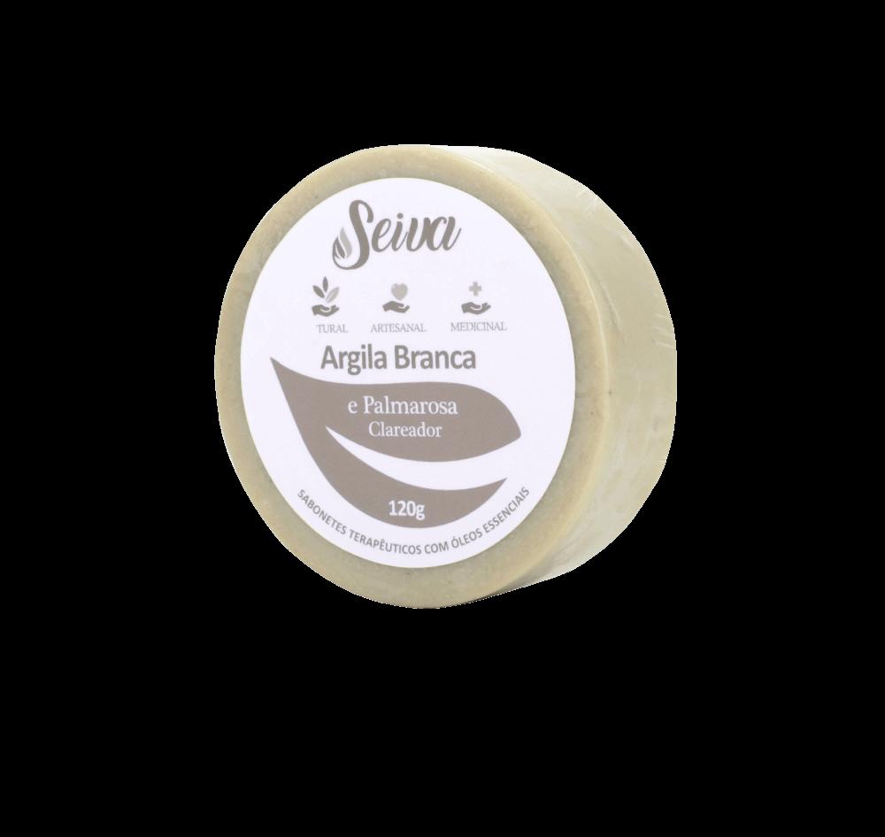 Argila Branca e Palmarosa - Clareadora -120g