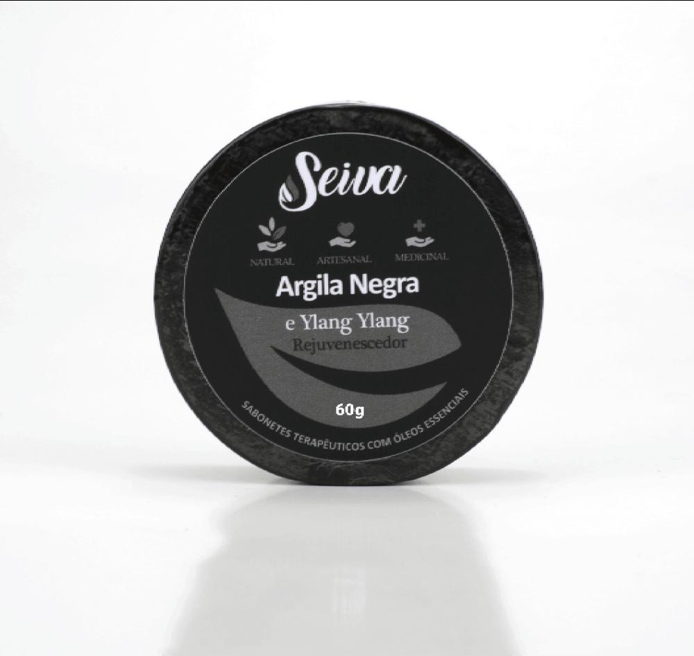 Argila Negra e Ylang Ylang - Rejuvenescedor - 60g