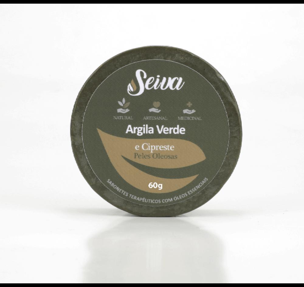 Argila Verde e Cipreste - Peles Oleosas - 60g