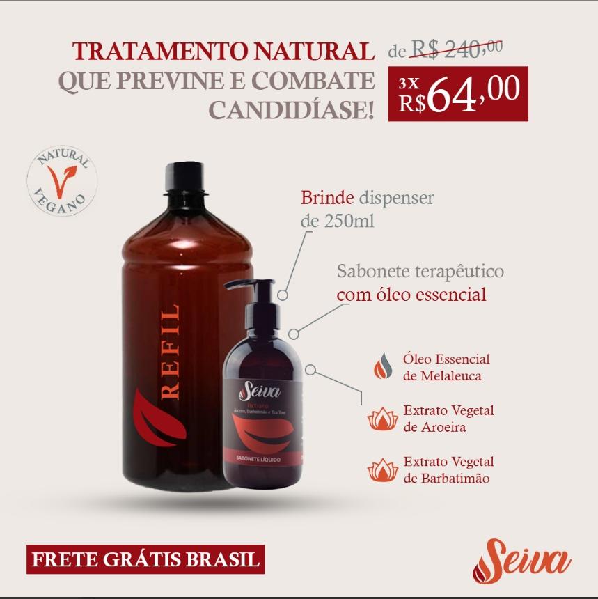 PROMOÇÃO Sabonetes líq Açaí Íntimo - Refil 1 litro + dispenser 250ml