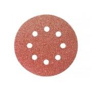 Disco Lixa Velcro Perfurado 8 Furos P 60 125mm C/5 Peças