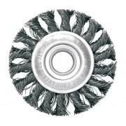 Escova Circular Trancada Aco Carbono 4.1/2 X 1/4